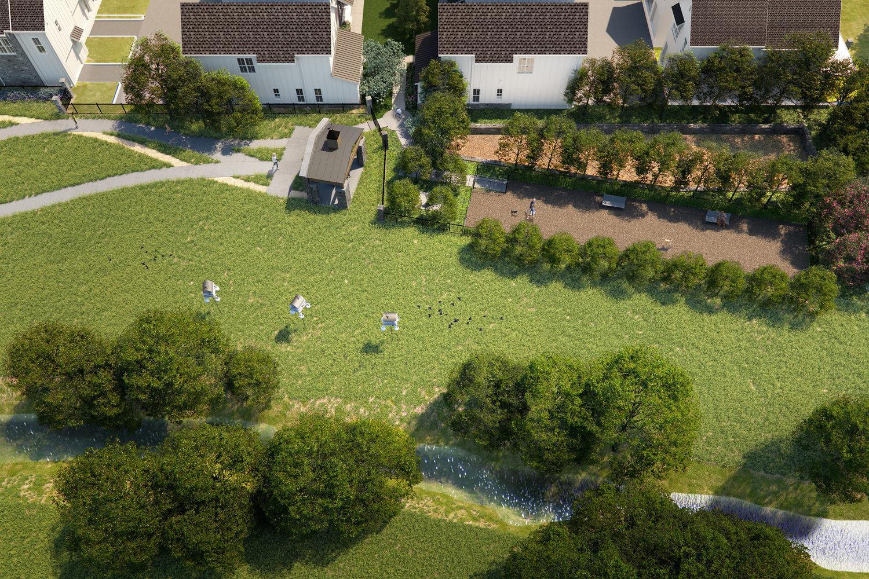 Field House Courtyard Aerial
